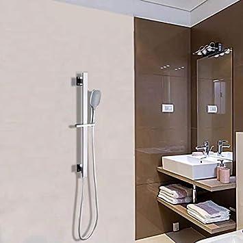 Duschset komme mit 65 cm langer Duschstange 1,5 m Duschschlauch und Hochdruck-Duschkopf aus Edelstahl duschstangen set,Handbrause Set Finish aus geb/ürstetem Stahl