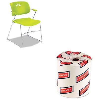 KITBWK6180SAF4286GS - Value Kit - Safco Veer Series Stacking Chair With Arms (SAF4286GS) and White 2-Ply Toilet Tissue, 4.5quot; x 3quot; Sheet Size (BWK6180) by Safco