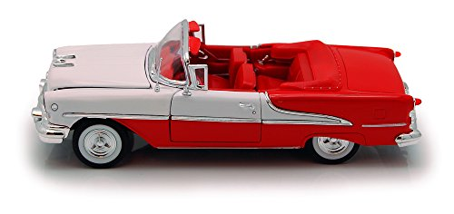 Welly 1955 Oldsmobile Super 88 Convertible, Red 22432 - 1/24 scale Diecast Model Toy (Oldsmobile Convertible Cars)