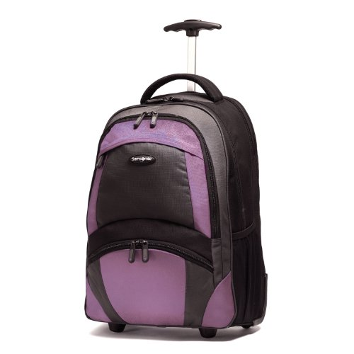 Samsonite Luggage Wheeled Backpack, Black/Bordeaux, One Size