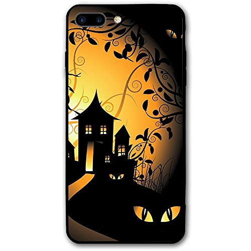 iPhone 7 Plus Mobile Shell iPhone 8 Plus Happy Halloween Mobile Shell Ultra-Thin Gloss Soft Rubber Silicone Soft TPU Scratch Protected Colorful Body Cover for iPhone 7/8 Plus -