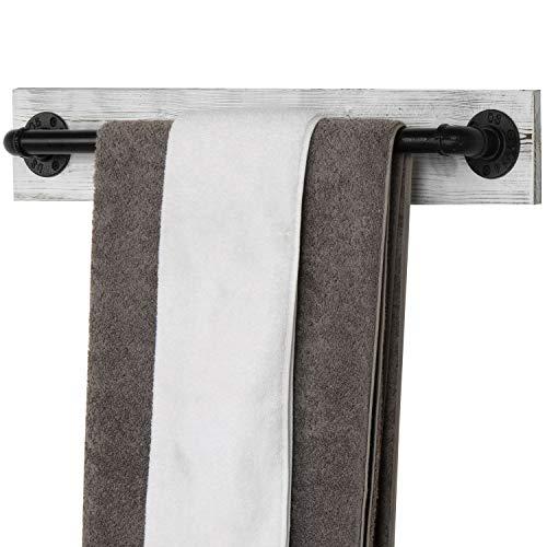 wood bath towel rack - 2