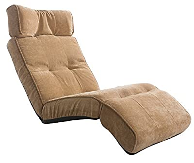 "Merax 65"" Adjustable Folding Floor Sofa Chair Floor Couch Lounger Chair in Beige"
