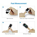 mibest OLED Finger Pulse Oximeter, O2 Meter, Dual