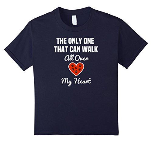 Kids Dog Lovers T-Shirt   Pet Heart   Dogs Are Better than Humans 12 Navy