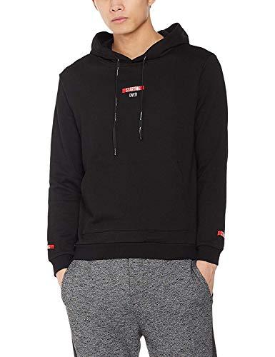 Demon&Hunter LM2 Series Men Hooded Sweatshirt (Long Sleeves) Black DLM3024B-2XL (Lm2 Series)
