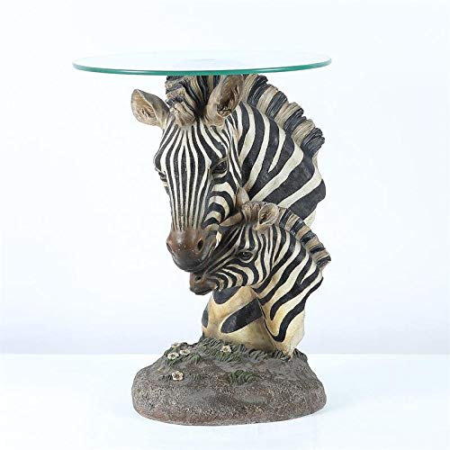 Pemberly Row Fashionable Zebra Accent End Table
