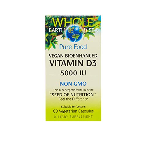 Whole Earth & Sea - Vitamin D3 5000 IU, 60 Vegetarian Capsules