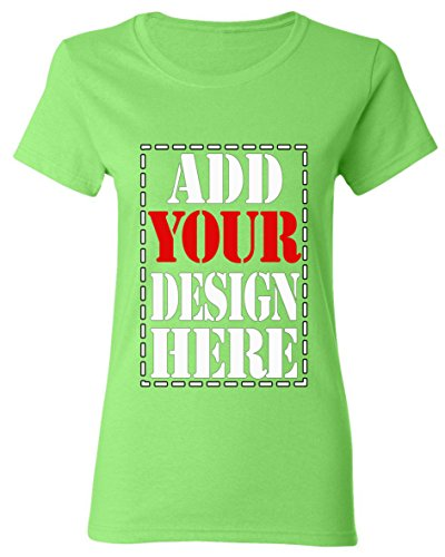 Design Your OWN Shirt Customized T-Shirt - Add Your Picture Photo Text Print - Women Tee (Slim Fit) -