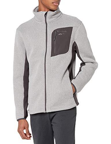 Reebok mens Textured Jacket W. Soft Woven