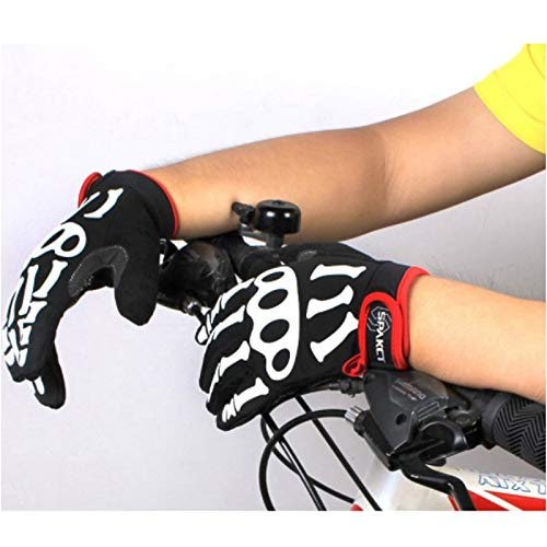 AINIYF Full Finger Motorcycle Gloves | Men's And Women's Mountain Bikes Sports Gloves Ankle Spring And Autumn (Color : White, Size : M) by AINIYF (Image #3)