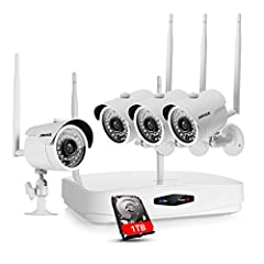 720PHD Wi-Fi Home Video Surveillance System * Tired of running the messy power cables and video cables all over the wall trying to get the system set up? This WIFI system frees you from the cabling issue for cameras are connected to the NVR w...