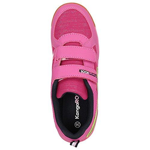 KangaROOS Horfe W - Zapatillas de Material Sintético para niña Rosa rosa Rosa - rosa