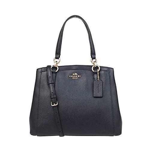 - COACH Women's Crossgrain Leather Minetta Shoulder Bag, Handbag, Midnight