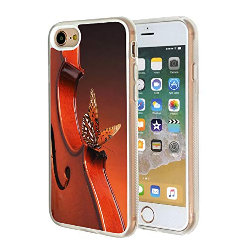 iPhone 7 Case,Vobber Clear Slim Anti-Scratch Architecture TPU Shockproof Protective Case Cover for iPhone 7,Butterfly Kiss - Butterfly Cello