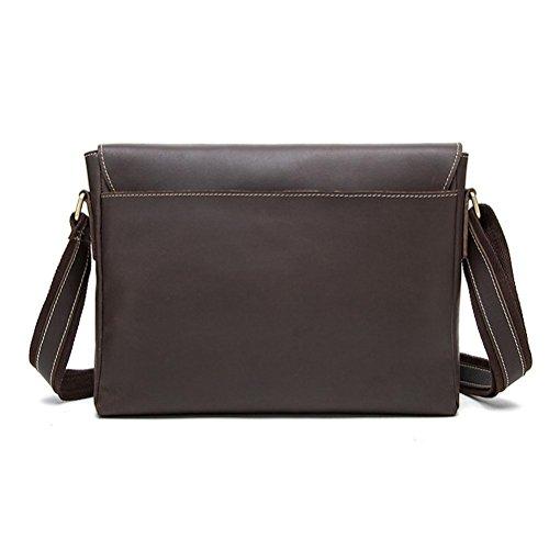 Bag Coffee Crossbody Leather Man Men Horse Briefcase Men Genuine Coffee Crazy Bags Bag Messenger Bags Gtuko Leather Shoulder AaxXqHgwW