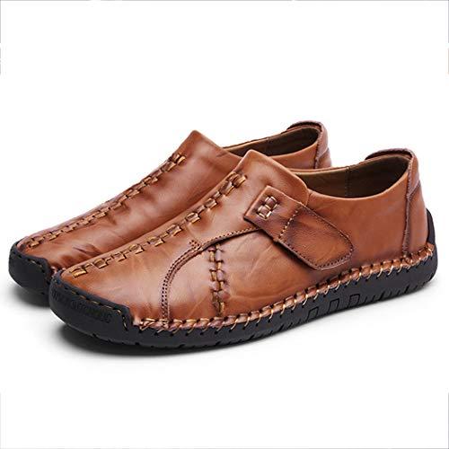 the best attitude 15dd5 aafff Hombres Salvaje Zapatos Cuero Inglaterra Gran Tamaño Retro Redbrown Los  Casuales De fwrYnTrt