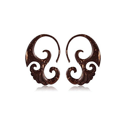 Holy Plug Body Piercing Jewelry Coconut Shell Claw Earrings Pair 12g 6g 2g (Jewellery Coconut Shell)
