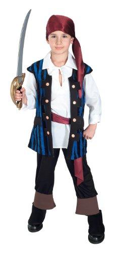 Kids Pirate King Pirate Costumes (Child's Pirate King Costume, Large)