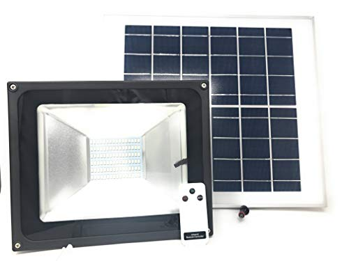 Foco con ledes SMD de 100 W, modelo JF-8800, con panel solar con sensor crepuscular y mando a distancia
