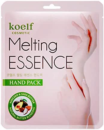 Koelf - 10 x Melting Essence Hand Mask for men and woman - Hand Mask with Shea butter, Avocado, Aloe Vera, Collagen and UREA for dry skin - Moisturizing Gloves - Hand Creams & Lotions