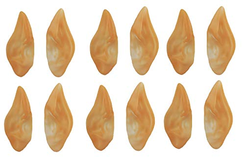 Nicky Bigs Novelties 12 Pack Pointed Elf Ear Space Alien Star Trek Spock Ears Halloween Costume Spock ()