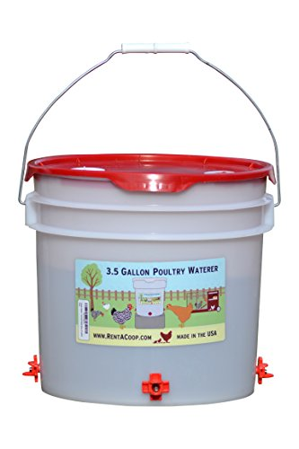 Chicken Waterer - Horizontal Nipple Setup (3.5 gallon) (Red)