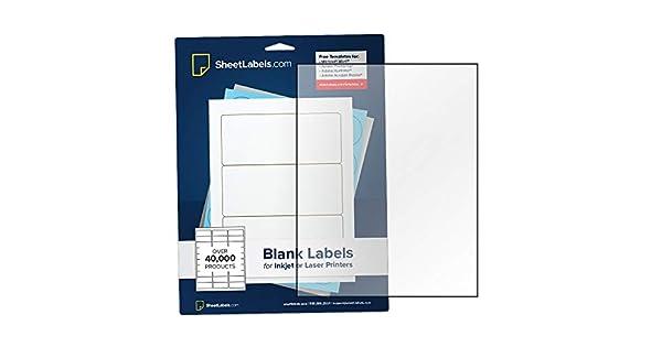 Amazon.com: Papel adhesivo transparente, etiquetas de hoja ...