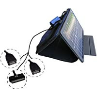 SunVolt MAX Solar Charger for Apple 30 pin devices (such as iphones & ipods) in addition to two other devices via included extra USB power ports; charge from sun at wall outlet-like speed