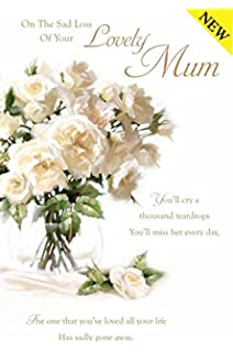 With sympathy loss of your mum wallet card keepsake grave thinking on the sad loss of your lovely mum sympathy card white rose altavistaventures Images