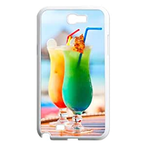 Samsung Galaxy N2 7100 Cell Phone Case Covers White Desktop Cocktail dnzw