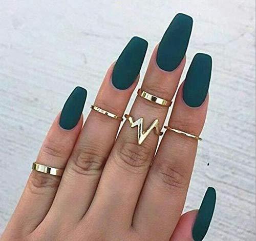 Retro Crystal Flower Rings Flower Rings Women Fashion Vintage Finger Ring Set Wed ()