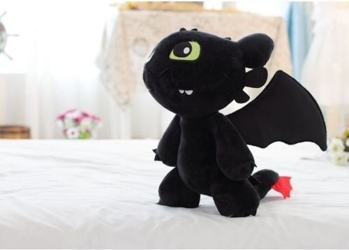 [12'' How to Train Your Dragon Toothless Night Fury Stuffed Animal Plush Toy Doll] (Night Fury Costume For Cat)