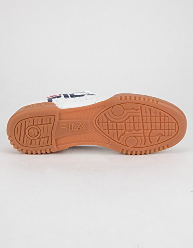 Fila Original Fitness Logo Sneakers (wh / Fila Nv / Fila Rd) Mens Sportskor Vit / Fila Marin / Fila Red