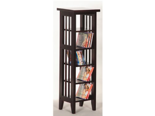 CD And DVD Rack With Espresso Finish By H.P.P