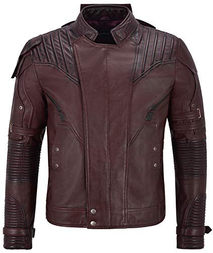 Uomo Lord 4095 Guardians Galaxy Of Marrone Cherry Da Giacca Pelle In 2 Pratt Star qvgRtR