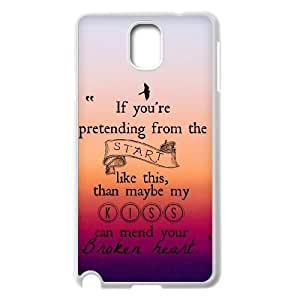 wugdiy Personalized Durable Case Cover for Samsung Galaxy Note 3 N9000 with Brand New Design One Direction Quotes