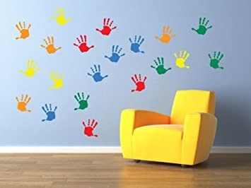 Vinyl Concept Childrens Wall Stickers Nursery Handprints Wall - Custom vinyl wall decals uk   how to remove