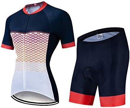 サイクルジャージ 夏の自転車サイクリングスーツサイクリングスーツ女性半袖シャツ乗馬スーツ通気性UV保護 吸汗速乾高通気 (色 : A3, サイズ : S)