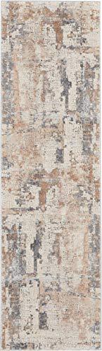 (Nourison RUS06 Rustic Textures Beige/Grey Area Rug 2'2