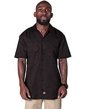 Short Sleeve Work Shirt - Dark Brown Dickies1574DB Mens Classic Shirt