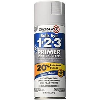 Rust-Oleum 290971 Zinsser Bulls Eye 1-2-3 Spray Primer, 13 oz, Gray