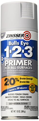 - Rust-Oleum 290971 Zinsser All-Purpose Primer, 13 Oz Aerosol Can, Liquid, Gray,