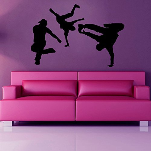 Dance Wall Decal Boys Break Dance Dancers Gym Wall Decor Vinyl Sticker Home Decor Vinyl Art Wall Decor Boy Room Bedroom Nursery - Price Class Usps International First