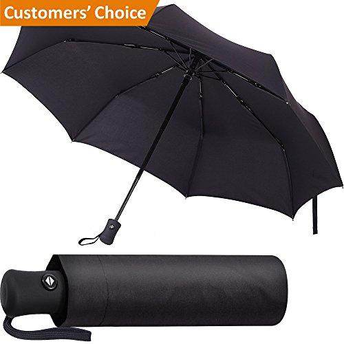 Black Umbrella Compact Folding Windproof