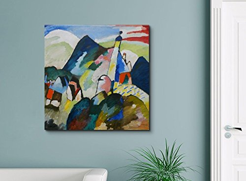 Blick auf Murnau mit Kirche by Wassily Kandinsky Print Famous Painting Reproduction