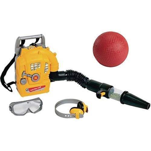 Tool Tech Pretend Play Back Pack Leaf Blower Play Set Includes Eye Goggles, Ear Muffs and Playground Ball