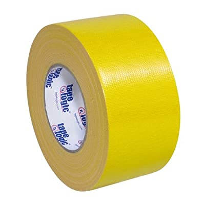 """Tape Logic T988100Y3PK, 10.0 Mil Duct Tape, 3"""" x 60 yd, Yellow (Pack of 3) by Tape Logic"""