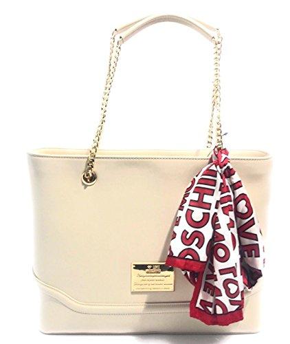 Shopper Moschino Avorio Love Jc4039pp12ld0 Donna Ea1Tdq