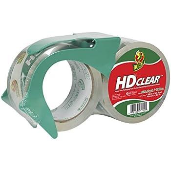 Duck HD Clear Heavy Duty Packaging Tape With Dispenser, 2 Rolls, 1.88 Inch x 54.6 Yard, (393184)